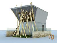 3d model of building tokyo