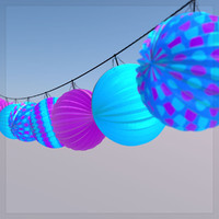 3d string paper lanterns