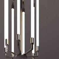 3d photorealistic bauhaus chandelier
