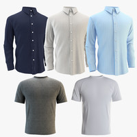 shirts set 3d model