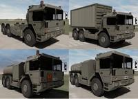 military raba h25 trucks 3d model