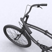 british military bicycle wwii 3d model
