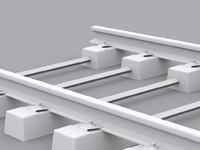 voie beton bibloc rail 3d max