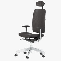 dauphin office chair 3d model