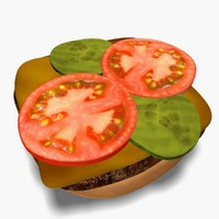 3d model burger restaurant