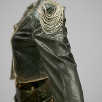 3d shiny leather clothing model