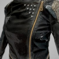 shiny leather clothing obj