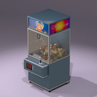 toy claw machine 3d max