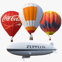 air baloon set 3d model