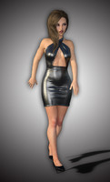 3d sexy lady character body girl model