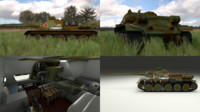 soviet tank interior engine 3d obj