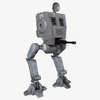 3d model mech walker