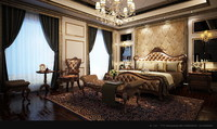 american style bedroom 3d max