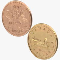 3d 1 cent dollar coins model