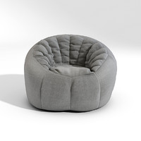 pouf seat cushion 3d max
