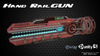 sci-fi hand railgun 3d model