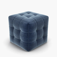 chesterfield puff 3d obj