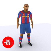 3d model soccer player barcelona