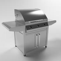 3d model professional grill