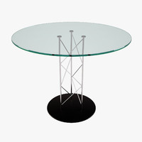 glass steel modern table 3d max