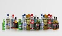 bottles 6 3d c4d