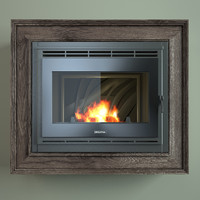 fireplace french 3d max