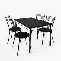 Chairs and Table Set (black)