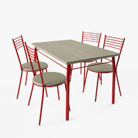 Chairs and Table Set (red)