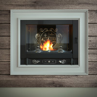 3d model fireplace french