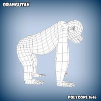 3d base mesh orangutan model
