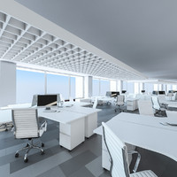 office interior 3d 3ds