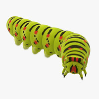 3d rigged caterpillar