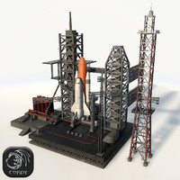3d max rocket launch complex