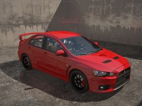 mitsubishi evolution 10 3d obj
