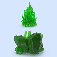 3d model kryptonite set
