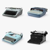 vintage typewriter 3d max