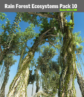 3d rain forest ecosystems pack