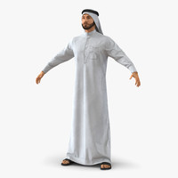 3d arab man fur