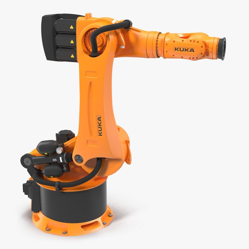 Kuka Robot KR-600 FORTEC 3ds 3d model 01.jpg