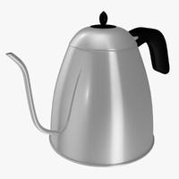 3d model of long spout pot tea