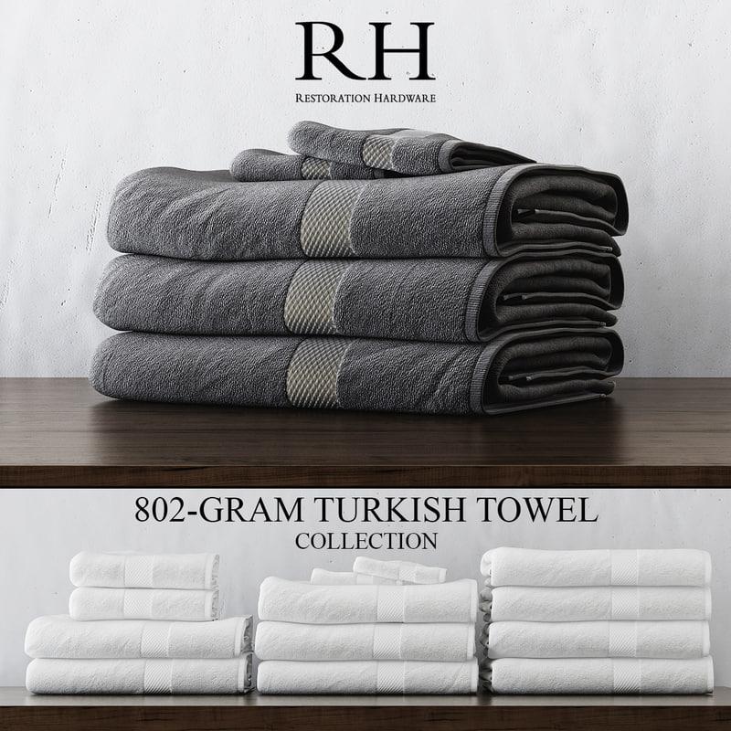Restoration Hardware Hq: 3d 802 Gram Turkish Towel Collections Model