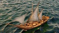 3d 3ds sailing vessel