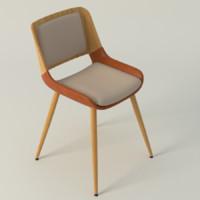 basil leisure chair 3d model