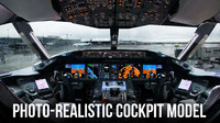 Photo-Realistic Airplane Cockpit