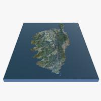 island corsica 3d model