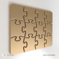 3d obj puzzle cnc iges