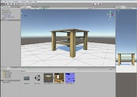 table wood glass 3d model