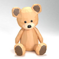 Teddy bear low poly style