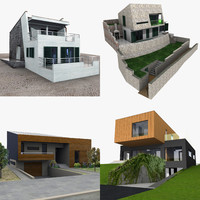 contemporary houses 3d model