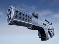 3d model of futuristic weapon